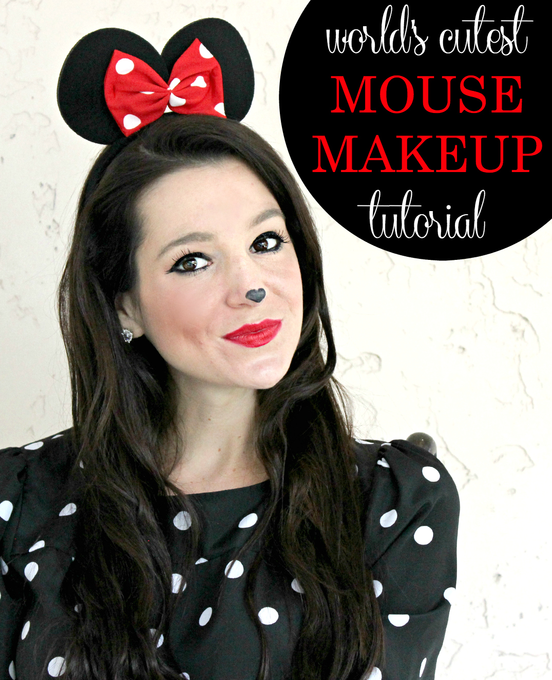 simple minnie mouse makeup tutorial for halloween. Black Bedroom Furniture Sets. Home Design Ideas