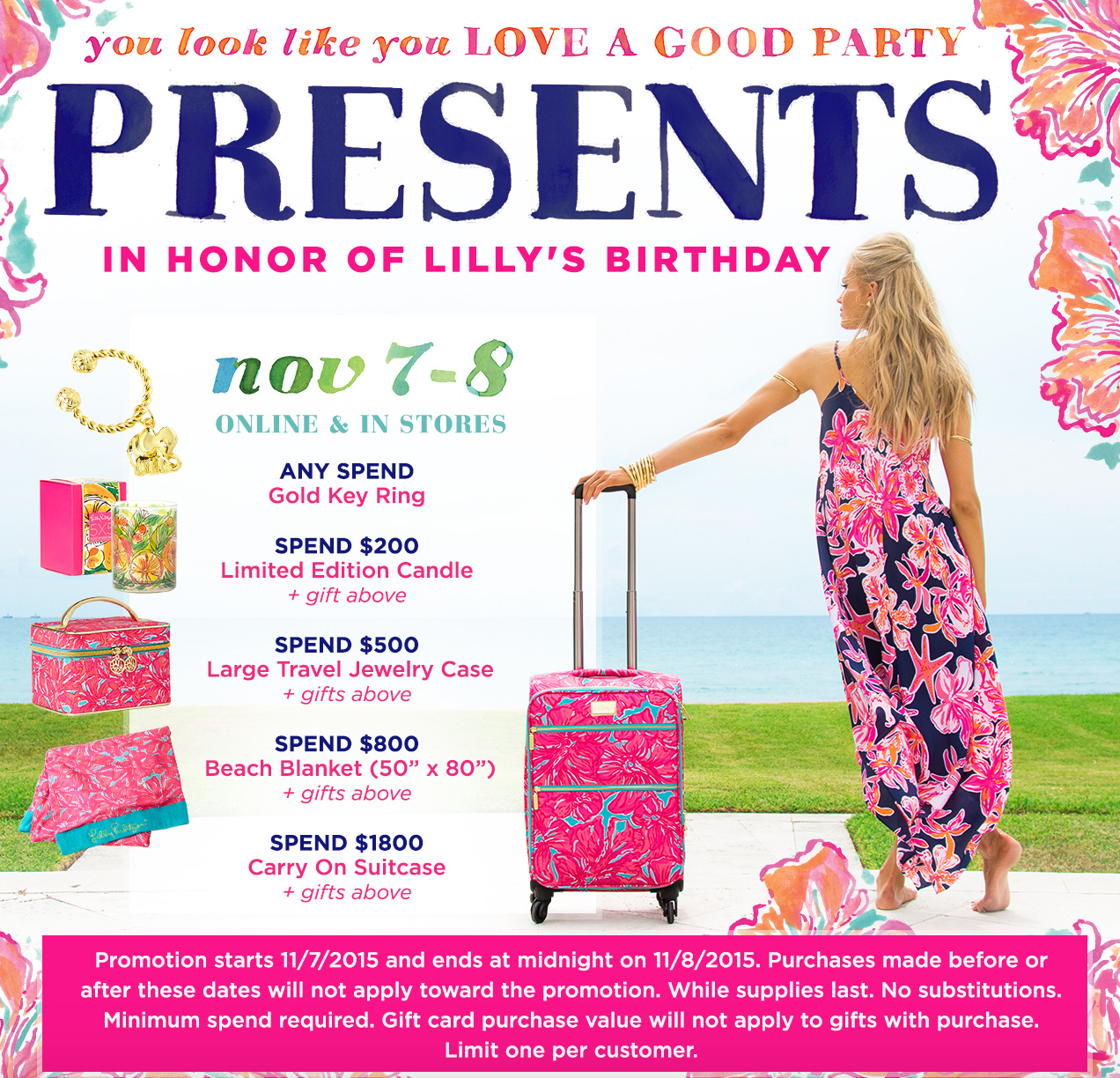 Lilly Pulitzer, Lilly Pulitzer's Birthday, Lilly Pulitzer Free Gifts, Lilly Pulitzer New Arrivals
