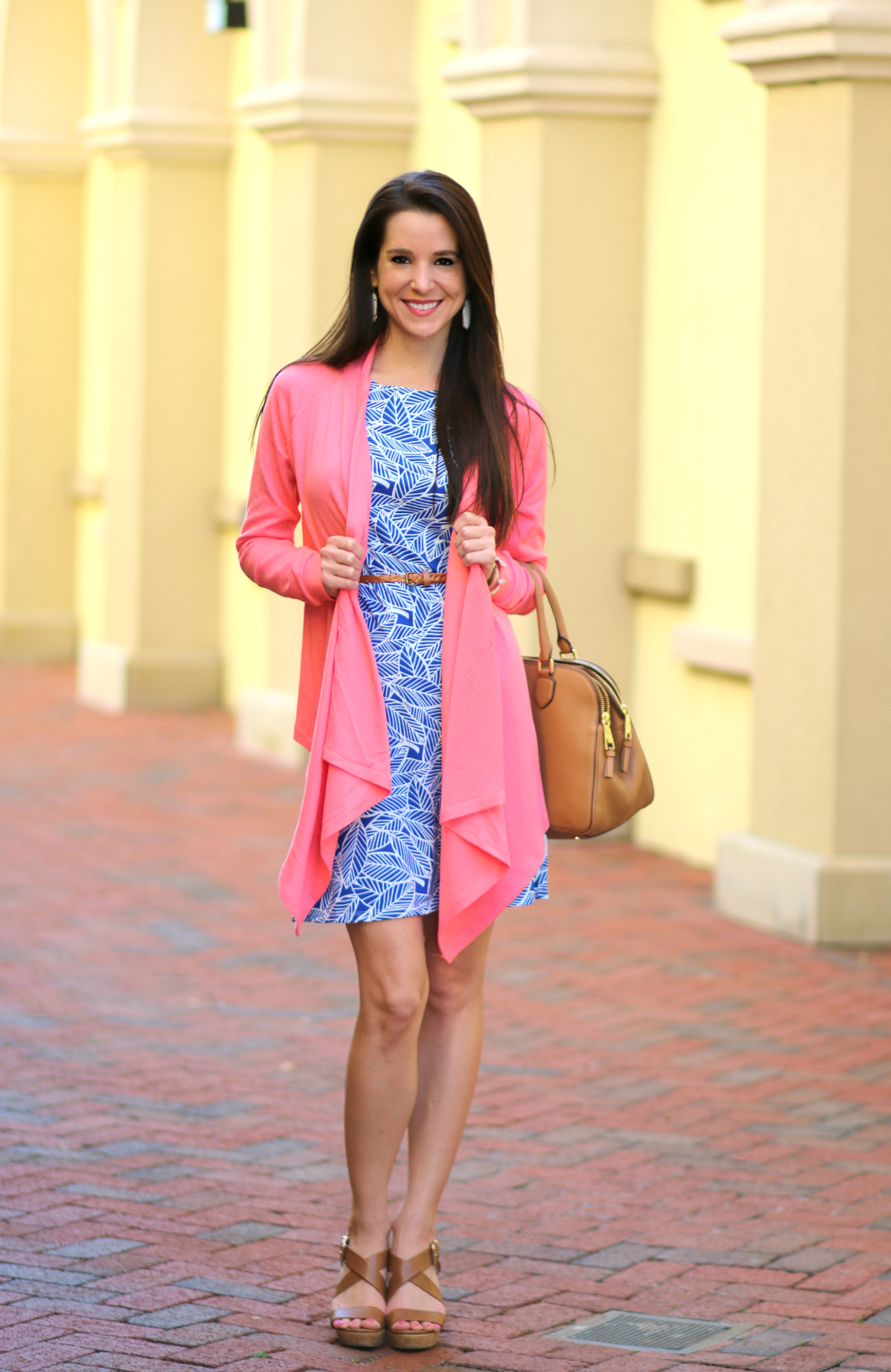 Floridian Fall Style: Coral Waterfall Cardigan