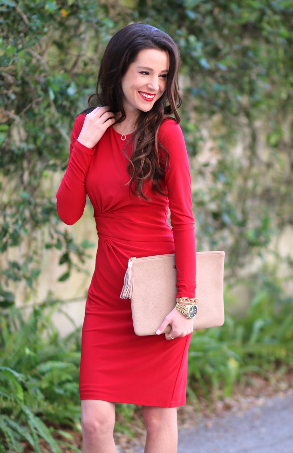 Ralph Lauren Red Crewneck Dress | Diary of a Debutante