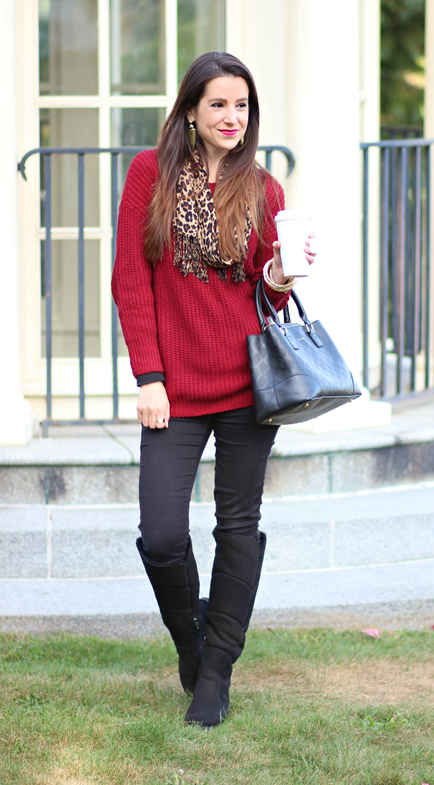 Breath Of Fall Marsala Cable Knit Sweater And Sibley Tall