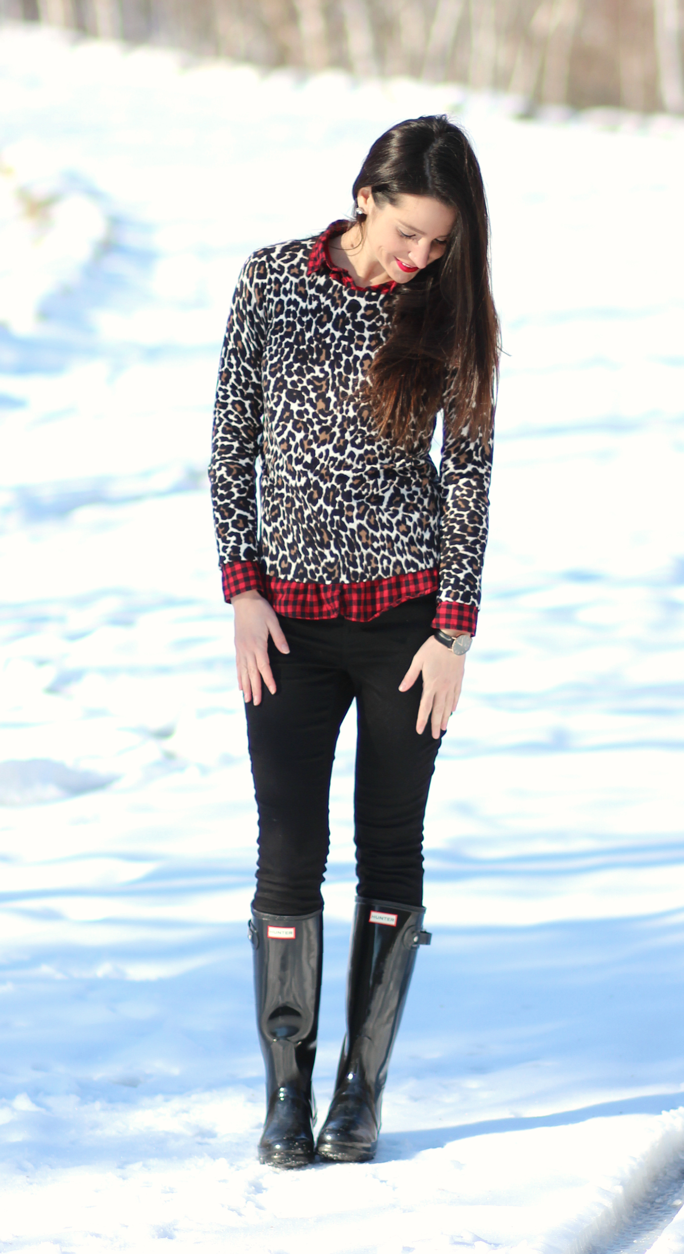 J.Crew Factory Leopard Crewneck Sweater