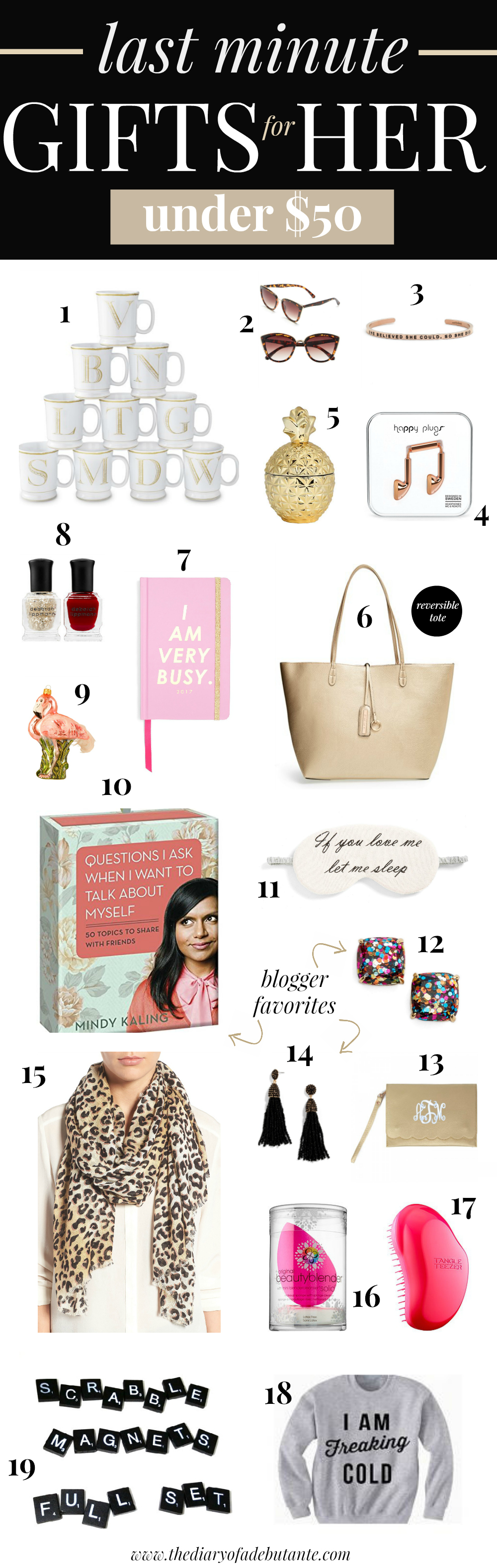 Last minute gifts for her under $50