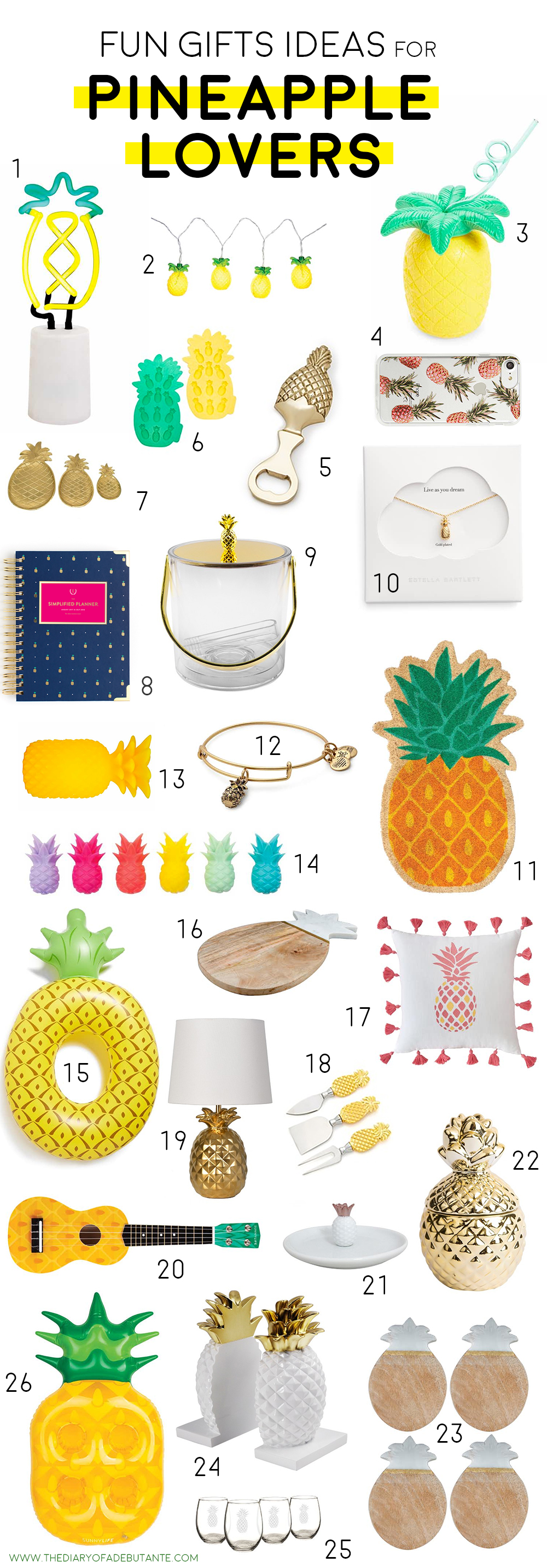 26 cute housewarming gift ideas for pineapple lovers everywhere